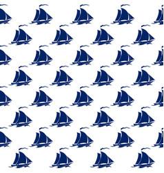 sailing vessel seamless pattern vector image