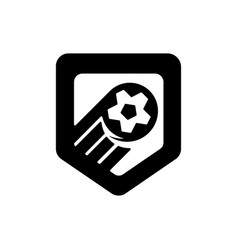 football championship logo of vector image