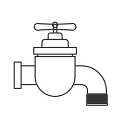 Monochrome silhouette of faucet icon vector