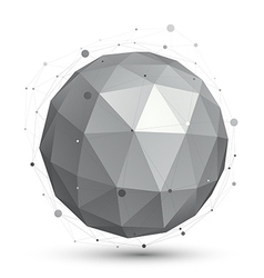 Spherical monochrome digital eps8 object vector