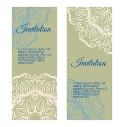Banners invitation style retro vintage vector