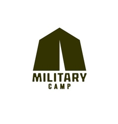 Military tent icon vector