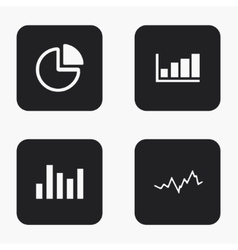 Modern graph icons set vector