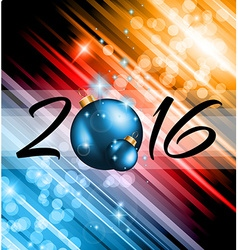 2016 christmas and happy new year party flyer vector
