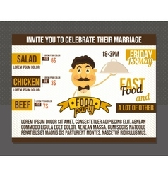 Food party invitation vector