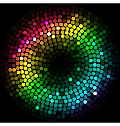 abstract colorfu lights cyrcle vector image vector image