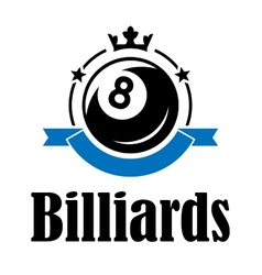 Billiards and pool emblem vector image vector image