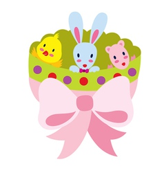 Bunny and Friends vector image vector image