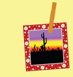 Cactus in the picture with a clip vector