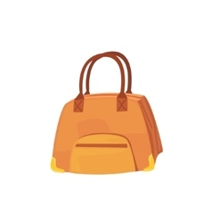 Female Brown Leather Handbag Item From Baggage Bag vector image
