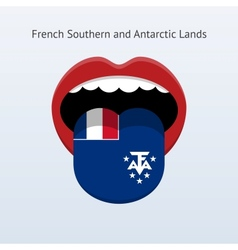French southern and antarctic lands language vector