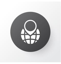 globe pointer icon symbol premium quality vector image vector image