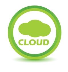 Green cloud icon vector