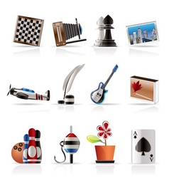 hobby and holiday icons vector image vector image