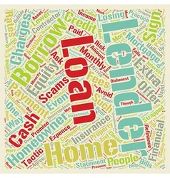 Home equity scams for you text background vector