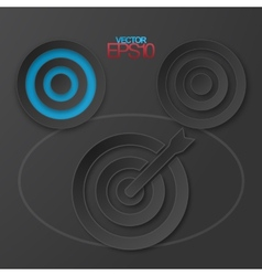 Modern flat design targets with drop shadows vector image vector image