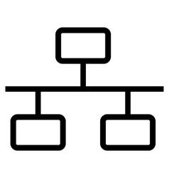 Network symbol icon vector image