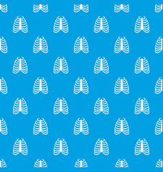Rib cage pattern seamless blue vector