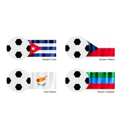 Soccer Ball of Cuba Albania Czech and Dagestan vector image