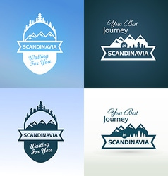 Tour to Scandinavia vector image vector image