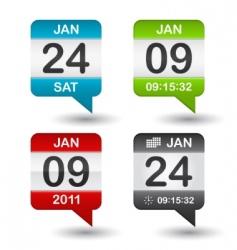 vector calendar icon vector image