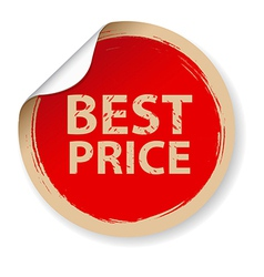 Vintage Label Best Price vector image