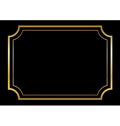 Gold frame beautiful simple golden black vector