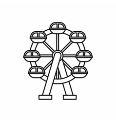 Ferris wheel icon outline style vector