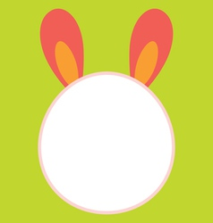 Bunny head template vector