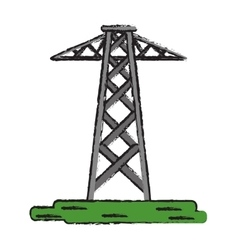 Drawing electrical tower transmission energy power vector