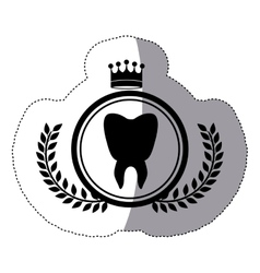 Isolated teeth design vector