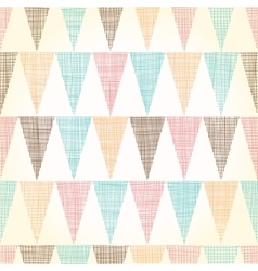 Vintage bunting flags triangles seamless vector