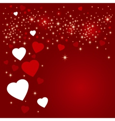 Hearts background design vector image
