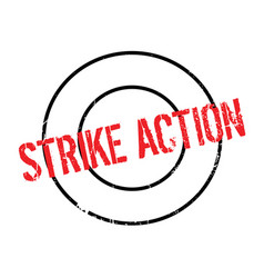 Strike action rubber stamp vector