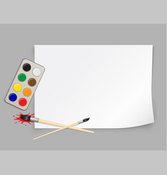 Paper template and brush vector