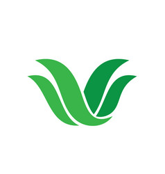 Abstract leaf ecology logo vector
