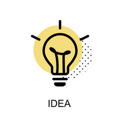 Idea lightbulb graphic icon vector