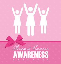 Cancer design over pink background vector