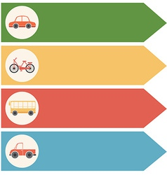 Different transportations vector