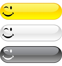 Smiley button vector