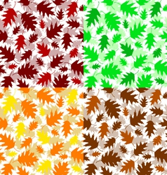 Texture of oak leaves vector