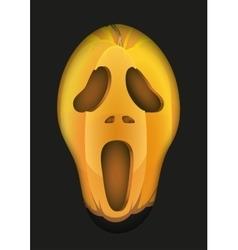 Pumpkins fear face vector