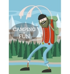 Cartoon cool lumberjack vector