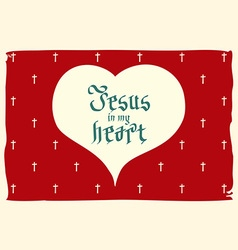 Gothic bible lettering christian art jesus in my vector