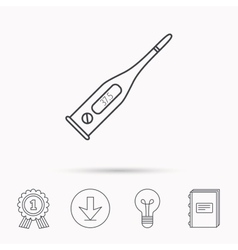 Electronic thermometer icon measurement tool vector