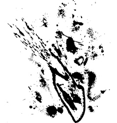 Abstract ink drops background black and white vector