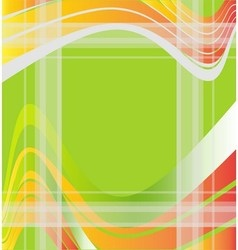 Abstract wave green background vector image