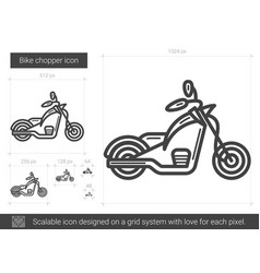 Bike chopper line icon vector