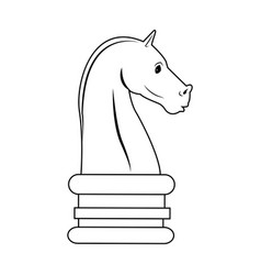 Chess knight strategy icon suitable for info vector
