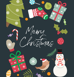 christmas decoration with an inscription inside vector image vector image